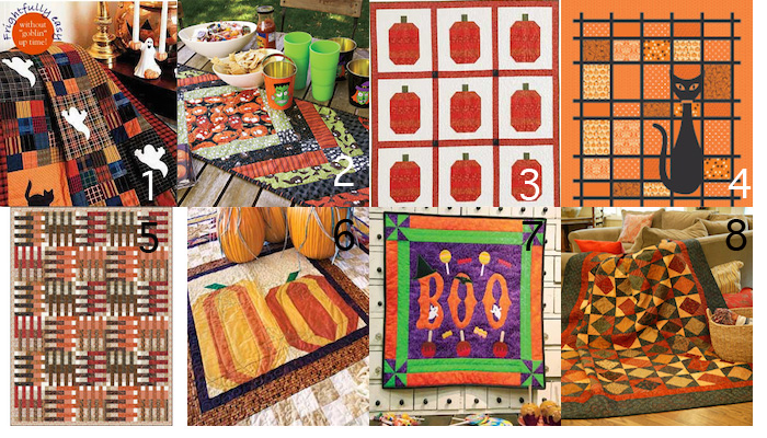 Halloween Quilt Patterns, Kits and More for Happy Seasonal ... : halloween quilt blocks - Adamdwight.com