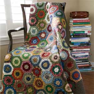 Garden Pavers: Machine-Finished Hexagon Lap Quilt Pattern - The ... : hexagon quilt ideas - Adamdwight.com