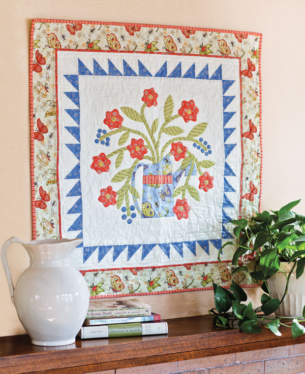 Garden Time Wall Hanging Quilt Pattern The Quilting Company