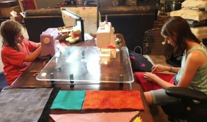 GirlsSewing 300x177 Kids are Quilting: 5 Things are Learned Teaching Kids to Quilt
