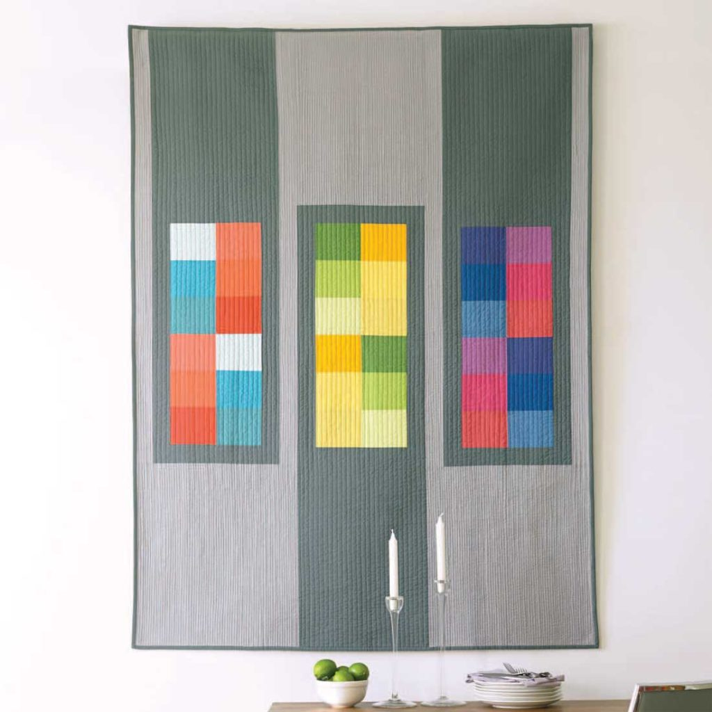 This modern quilt comes together quickly and easily