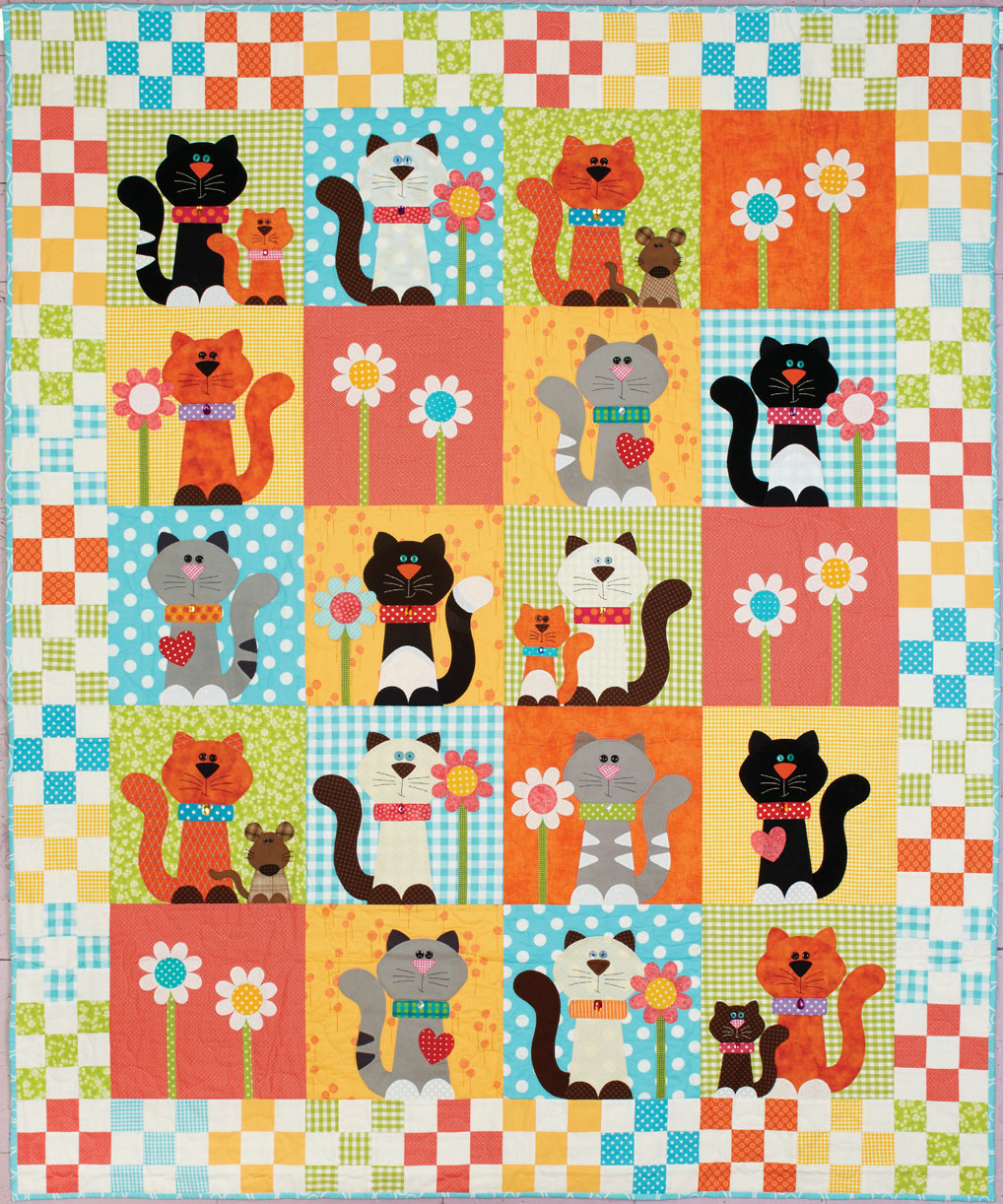 HappyQuilts Kitty 10 Happy Quilts for Kids