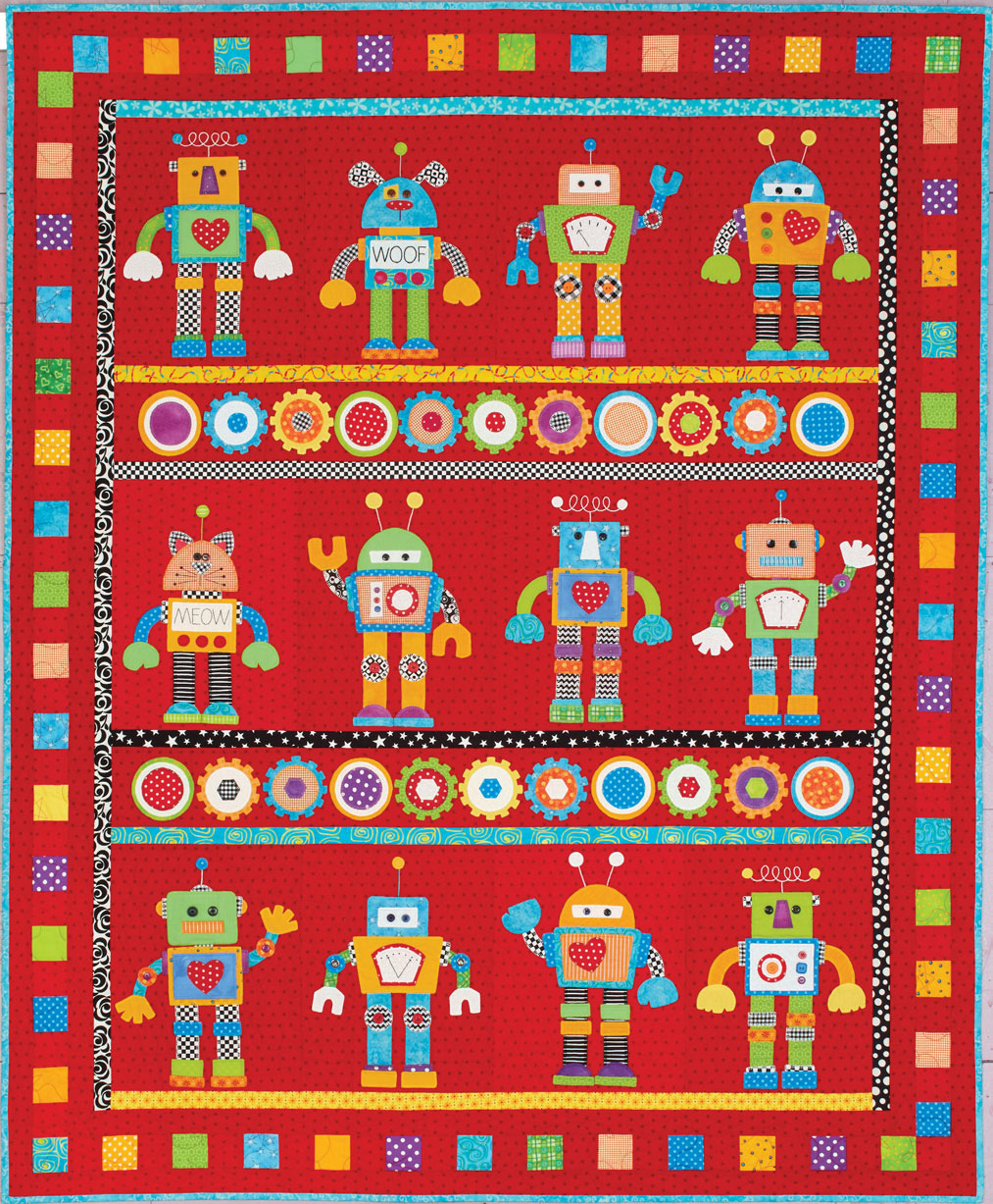 HappyQuilts Robots 10 Happy Quilts for Kids