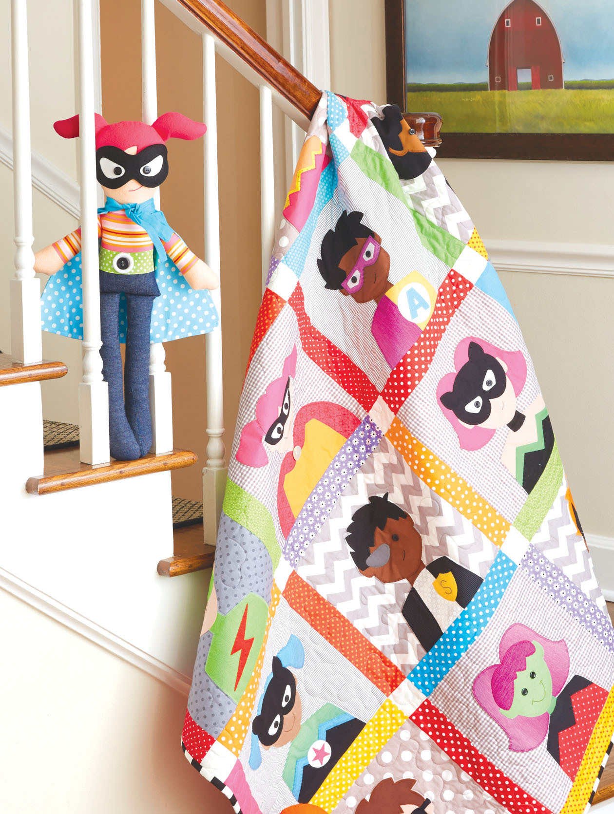 HappyQuilts Superheroes 10 Happy Quilts for Kids