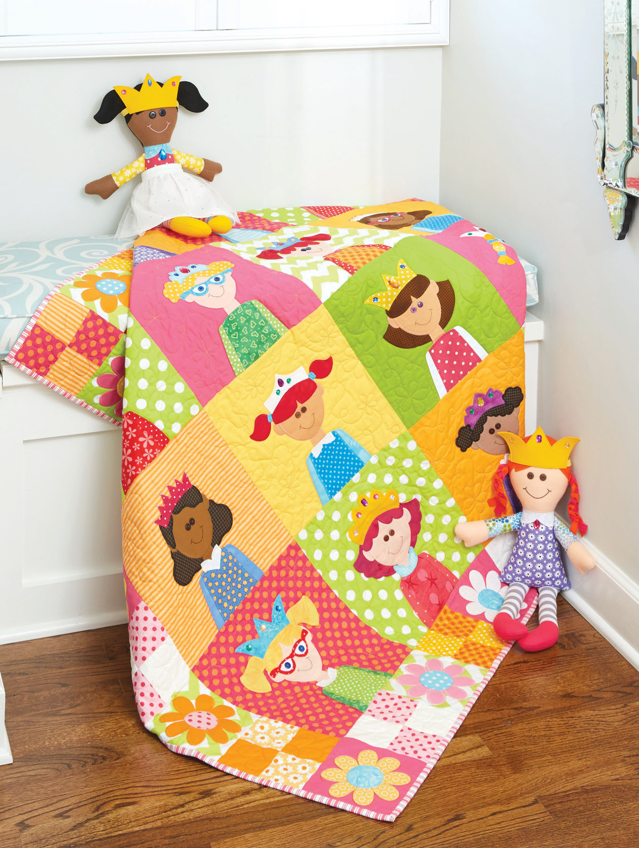 HappyQuilts pincesses 10 Happy Quilts for Kids