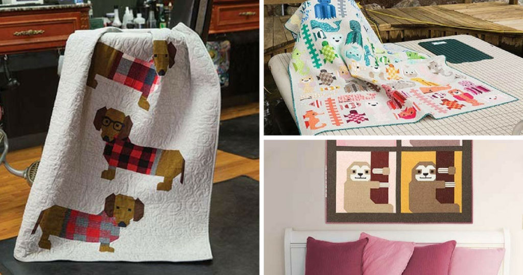 animal amp pet quilts by elizabeth hartman quilting daily