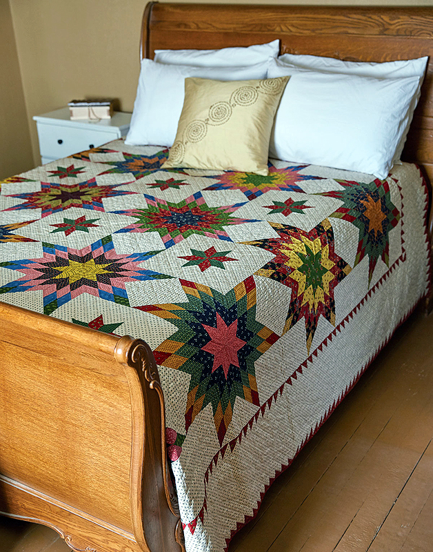 Harvest sun king size quilt fons porter the for Bed quilting designs