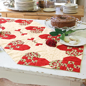 Heart Of The Home: Cheerful Valentine Table Runner Quilt Pattern
