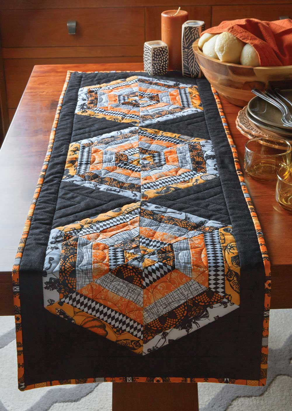Hexed Runner Quilt