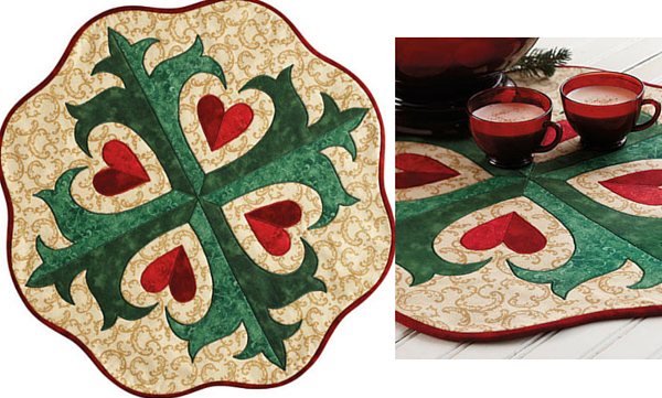 Holiday Hearts Table Topper