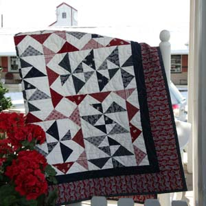 Hometown Tradition: Red White & Blue Patriotic Lap Quilt Pattern ... : red and blue quilt - Adamdwight.com