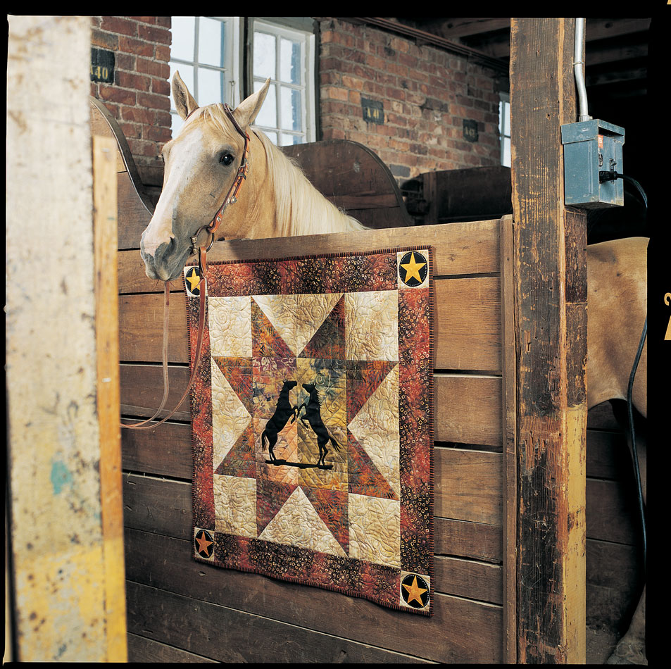 Wall Hanging Star Quilt Pattern Featuring Horses from Fons ... : quilt horse - Adamdwight.com