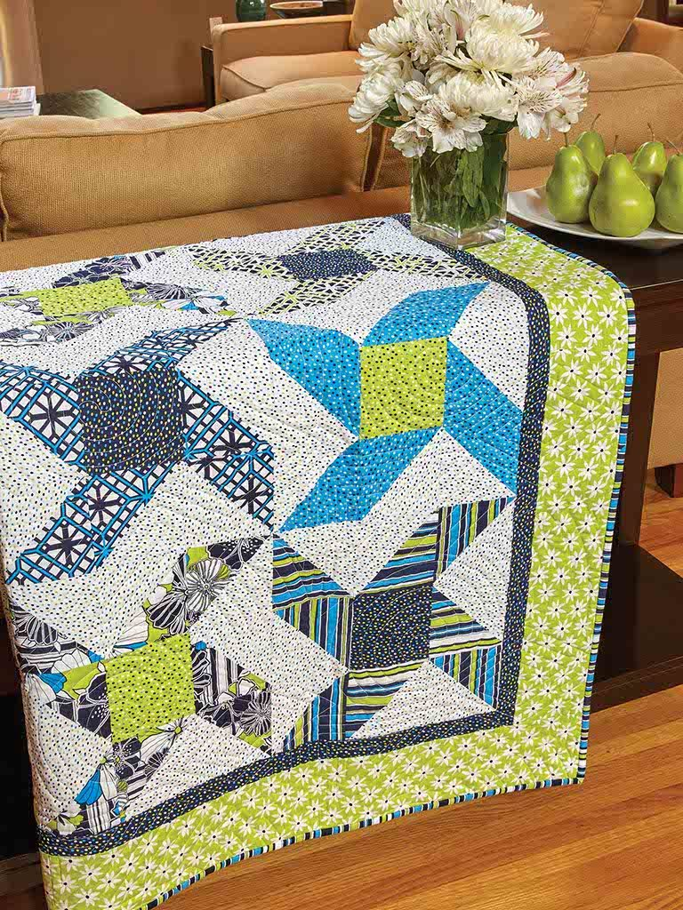 With A Twist Quilt Throw Quilt Pattern By Fons Amp Porter