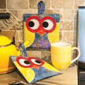 FREE It's a Hootie owl quilt block potholder pattern download