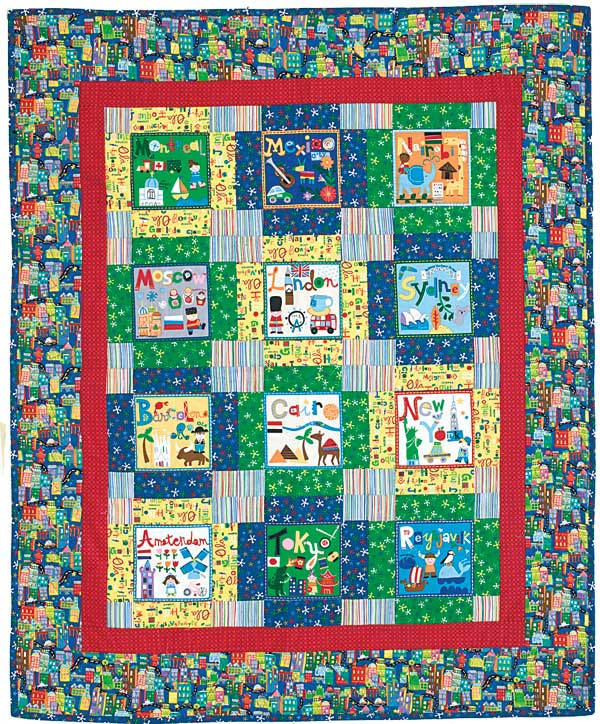 Its a kids world reversible map and city block quilt for its a kids world city blocks gumiabroncs Image collections