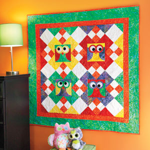 It's a Hootie: Bright Colorful Owl Wall Quilt Pattern - The ... : owl quilt patterns - Adamdwight.com