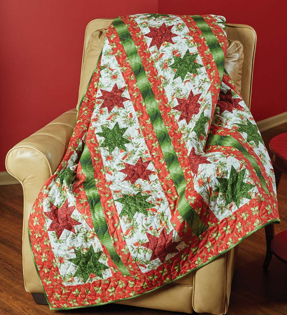 christmas lc s quilt cottage block star in crossed