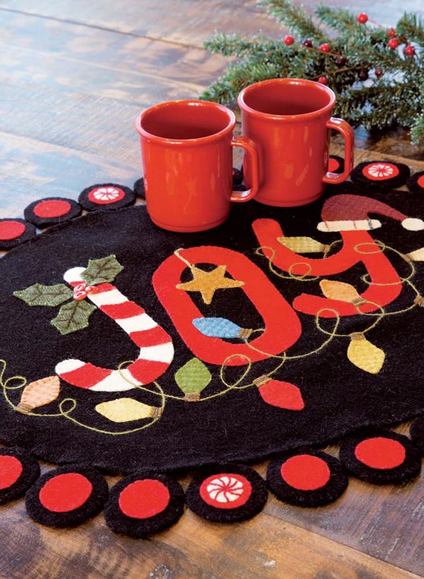 JOY table topper Wool Applique Tutorial + Project Ideas
