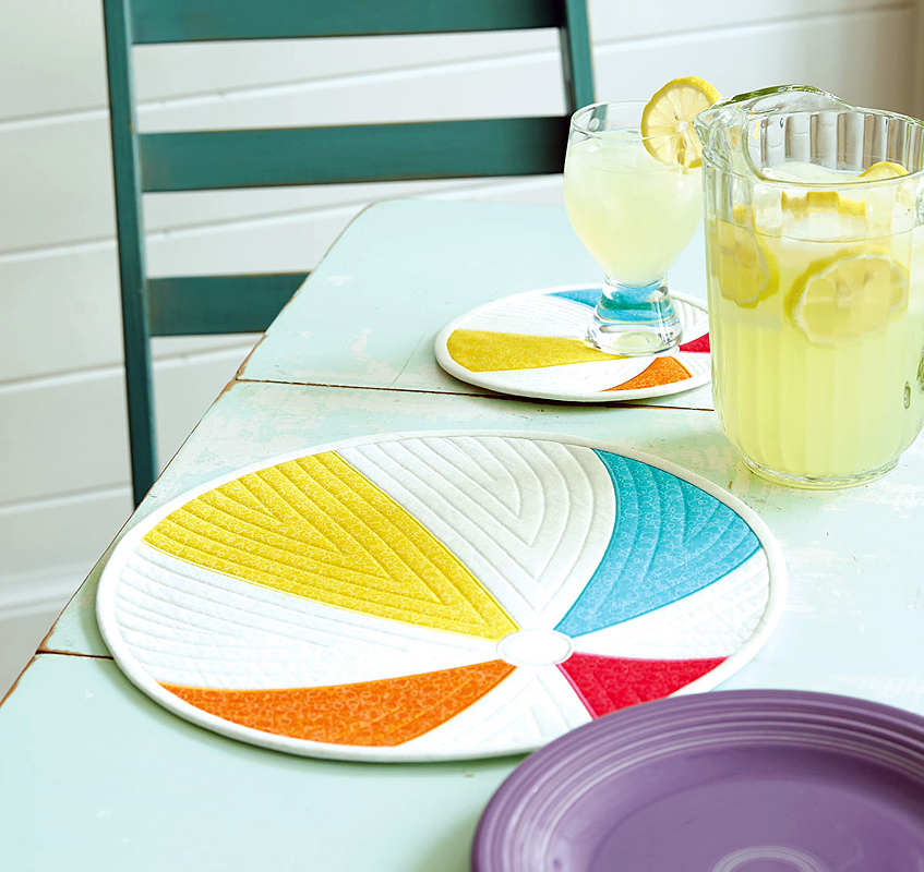 Just Beachy Quilted Placemat And Mini Mat Fons Porter The