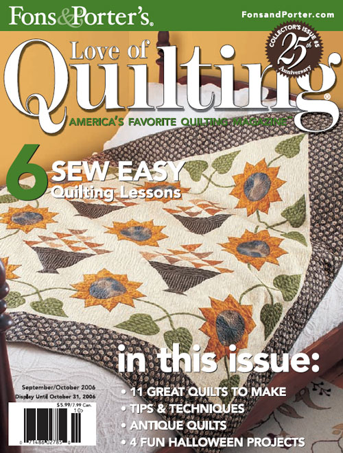 Pattern corrections fons porter the quilting company love of quilting septemberoctober 2006 fandeluxe Choice Image