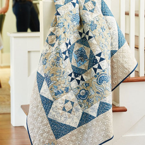 Fons & Porter Love of Quilting - Berry Blue Quilt Pattern Download