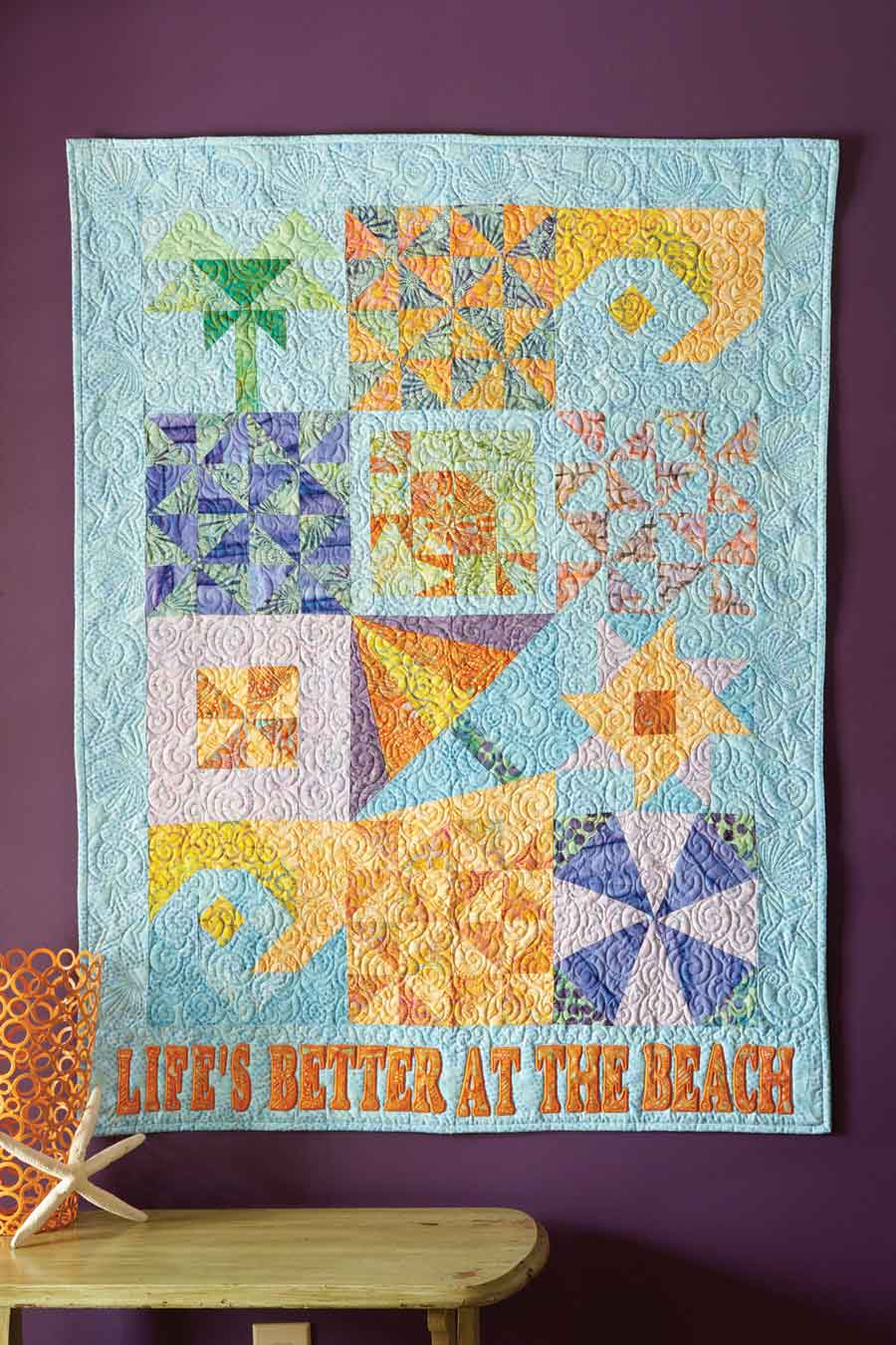 Free Quilt Pattern Friday Lifes Better At The Beach Fons