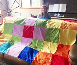 LilyQuiltTop 300x254 Kids are Quilting: 5 Things are Learned Teaching Kids to Quilt