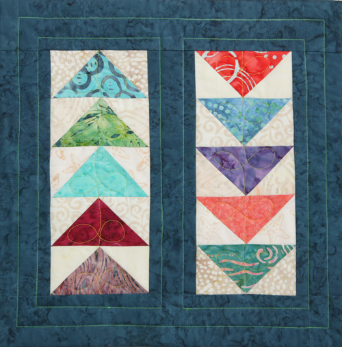 Lines and Loops Quilting Machine Quilting: 1 Block, 3 Ways!