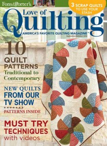 Pattern corrections fons porter the quilting company love of quilting septemberoctober 2015 fandeluxe Choice Image
