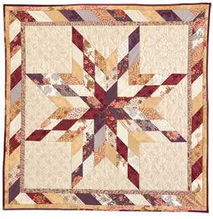 "Lone Star Wall Hanging: FREE 2 1/2"" Strip-Pieced Quilt Pattern - The Quilting Company"