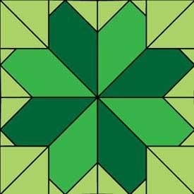 Lucky Clover Free Quilt Block Pattern