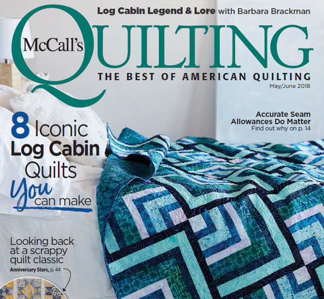 McCall's Quilting May/June 2018 Print magazine