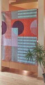 heather black, curved piecing, modern