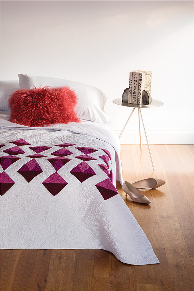 Red Diamonds Quilt by Sylvia Schaefer