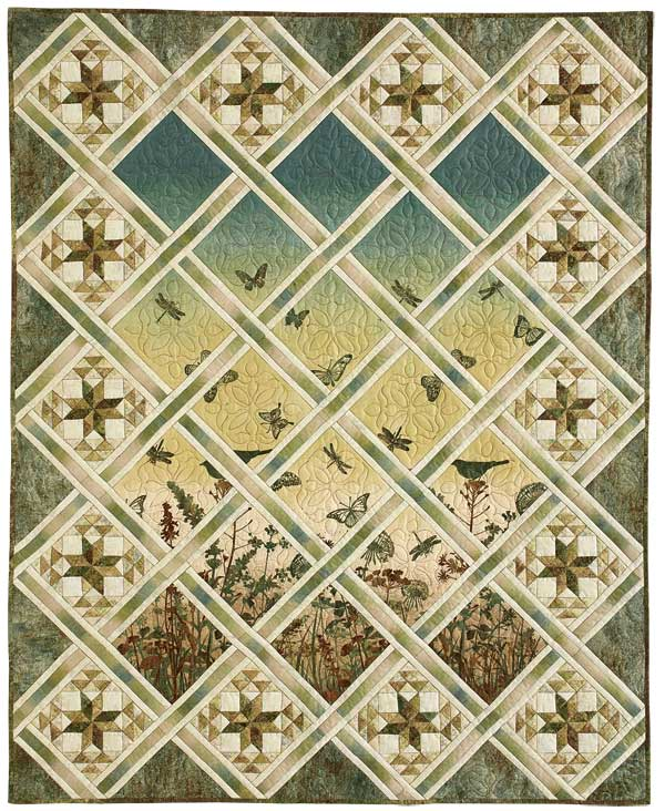 Magical Meadow: Serene Panel Print/Pieced Lap Quilt Pattern
