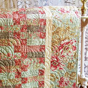 Misty Garden: Feminine Floral Make-in-a-Weekend Lap Quilt Pattern ... : weekend quilt - Adamdwight.com