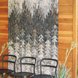 Misty Pines Dramatic Trees And Mountains Lap Quilt