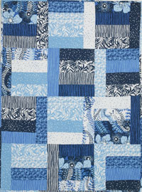 FREE modern baby quilt pattern: Blue is for Boys