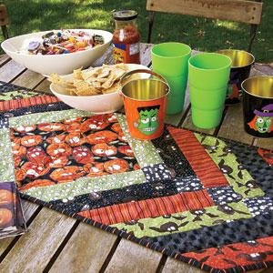 monster munchies free halloween table runner quilt pattern