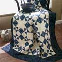 Moonlight Stars: Quick Classic One-Block Lap Quilt Pattern