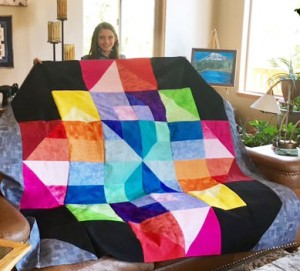MorganQuiltTop 300x271 Kids are Quilting: 5 Things are Learned Teaching Kids to Quilt