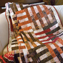Nutmeg & Cinnamon: Jelly Roll Lap Quilt Pattern