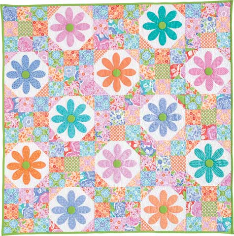 Oopsie 475px Friday Free Quilt Patterns: Oopsie Daisy Wall Quilt