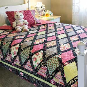 P.S. I Love You - Colorful Diamonds Bed Size Quilt Pattern for ... : pillowcase quilt pattern - Adamdwight.com