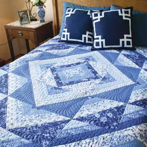 Painted Porcelain Easy King Size Quilt Pattern The