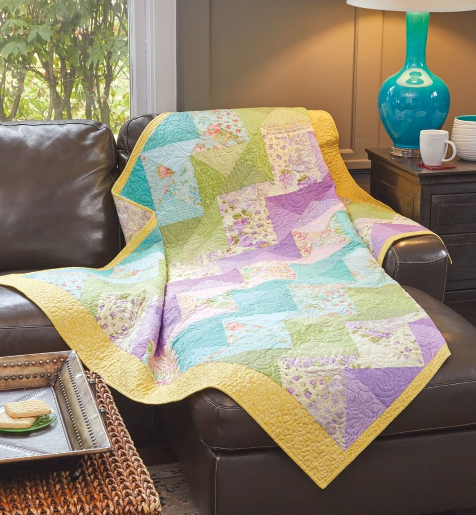 Pastel Zig Zag Quilt Fons Amp Porter The Quilting Company