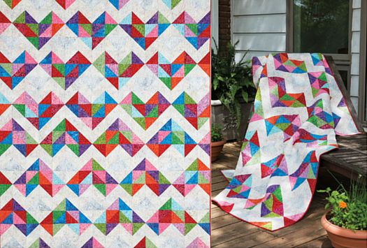 Patched-Up Hearts Quilt