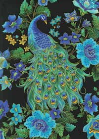 Peacock Pizzazz backing fabric