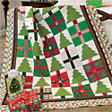 Pines & Presents: Cheerful Scrappy Christmas Lap Quilt Pattern