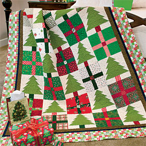 Pines & Presents: Cheerful Scrappy Christmas Lap Quilt Pattern ... : quilting presents - Adamdwight.com
